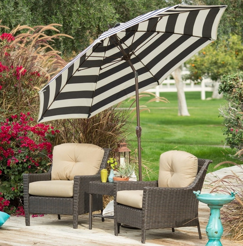 Black And White Striped Patio Umbrellas For 2019 45 Black And White Striped Patio Umbrella, Striped Umbrella Ebay (Gallery 8 of 20)