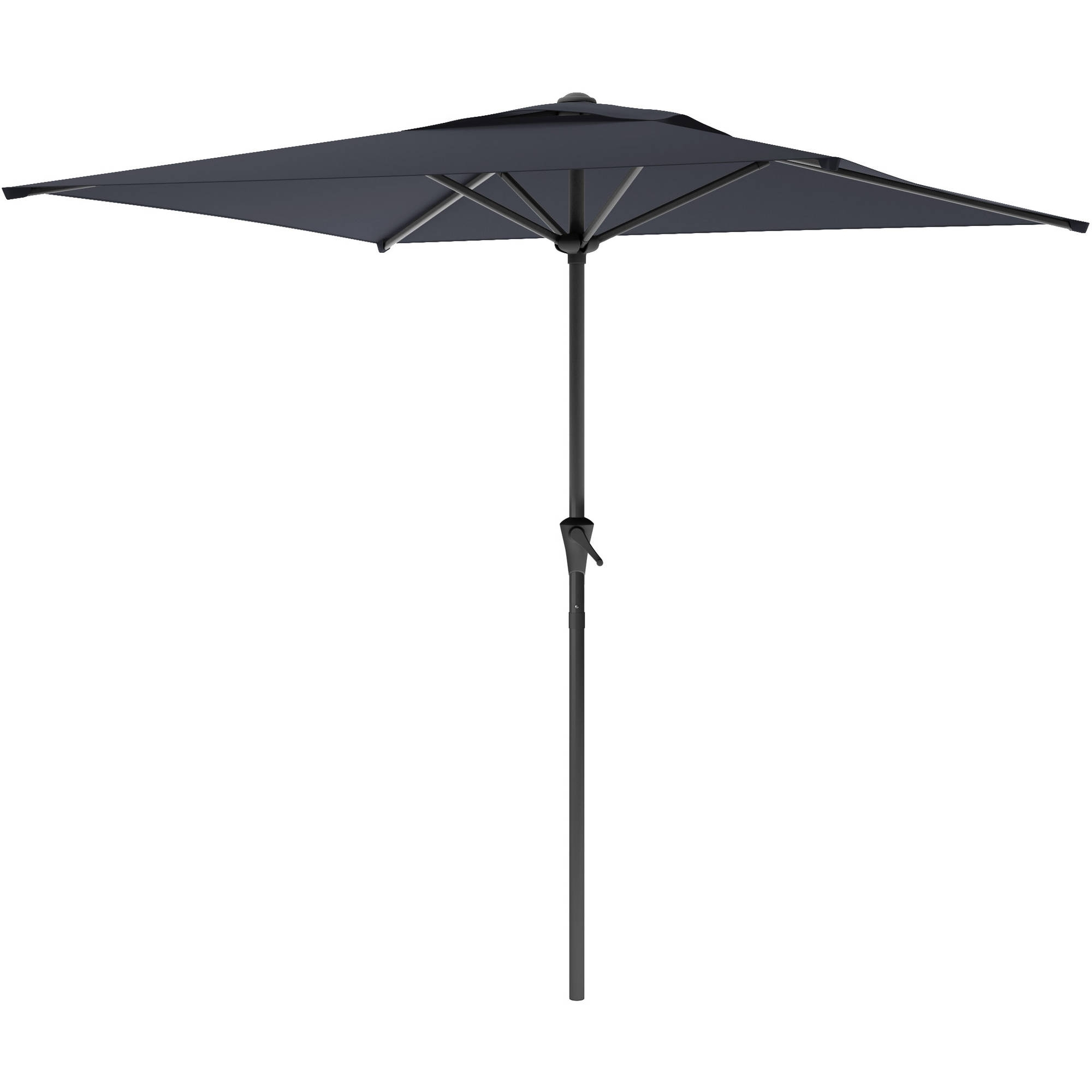 Black Patio Umbrellas Intended For Most Popular Sonax Corliving Square Patio Umbrella Metal Umbrellas In Black (Gallery 20 of 20)