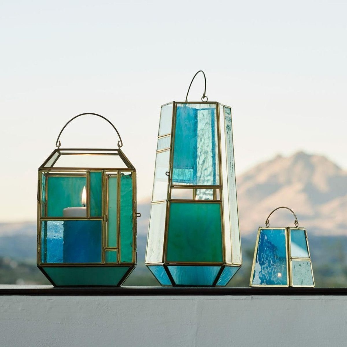 Blue Outdoor Lanterns With Favorite Hang These Stained Glass Inspired Lanterns Inside Or Outside, To (Gallery 7 of 20)
