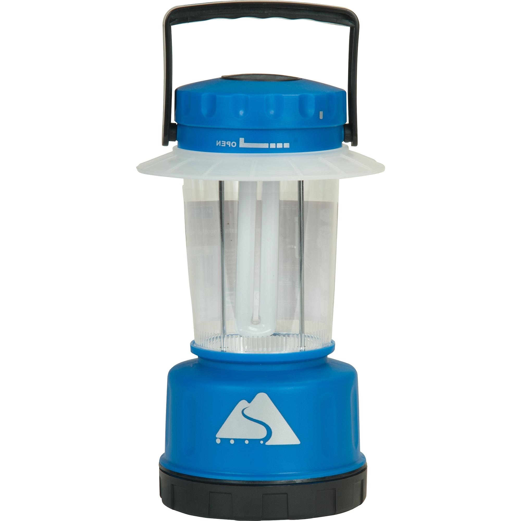 Blue Outdoor Lanterns Within Recent Ozark Trail Indoor/outdoor Lantern, Blue – Walmart (Gallery 3 of 20)