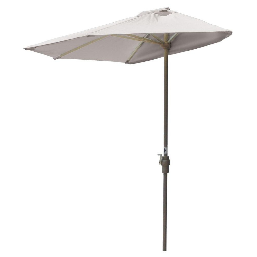 Blue Star Group Off The Wall Brella 7.5 Ft. Patio Half Umbrella In With Preferred Half Patio Umbrellas (Gallery 14 of 20)