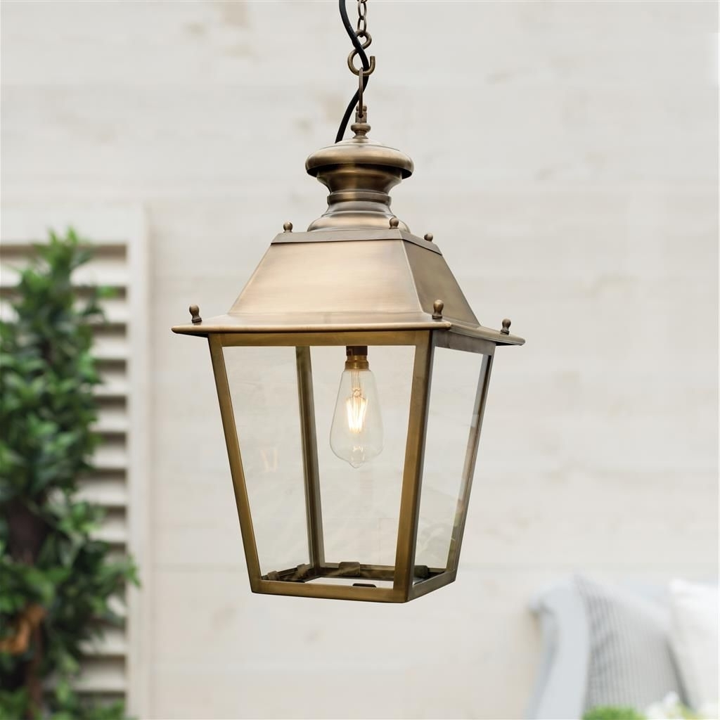 Brass Outdoor Lanterns With Regard To Current Standard Canterbury Lantern In Antiqued Brass (Gallery 14 of 20)