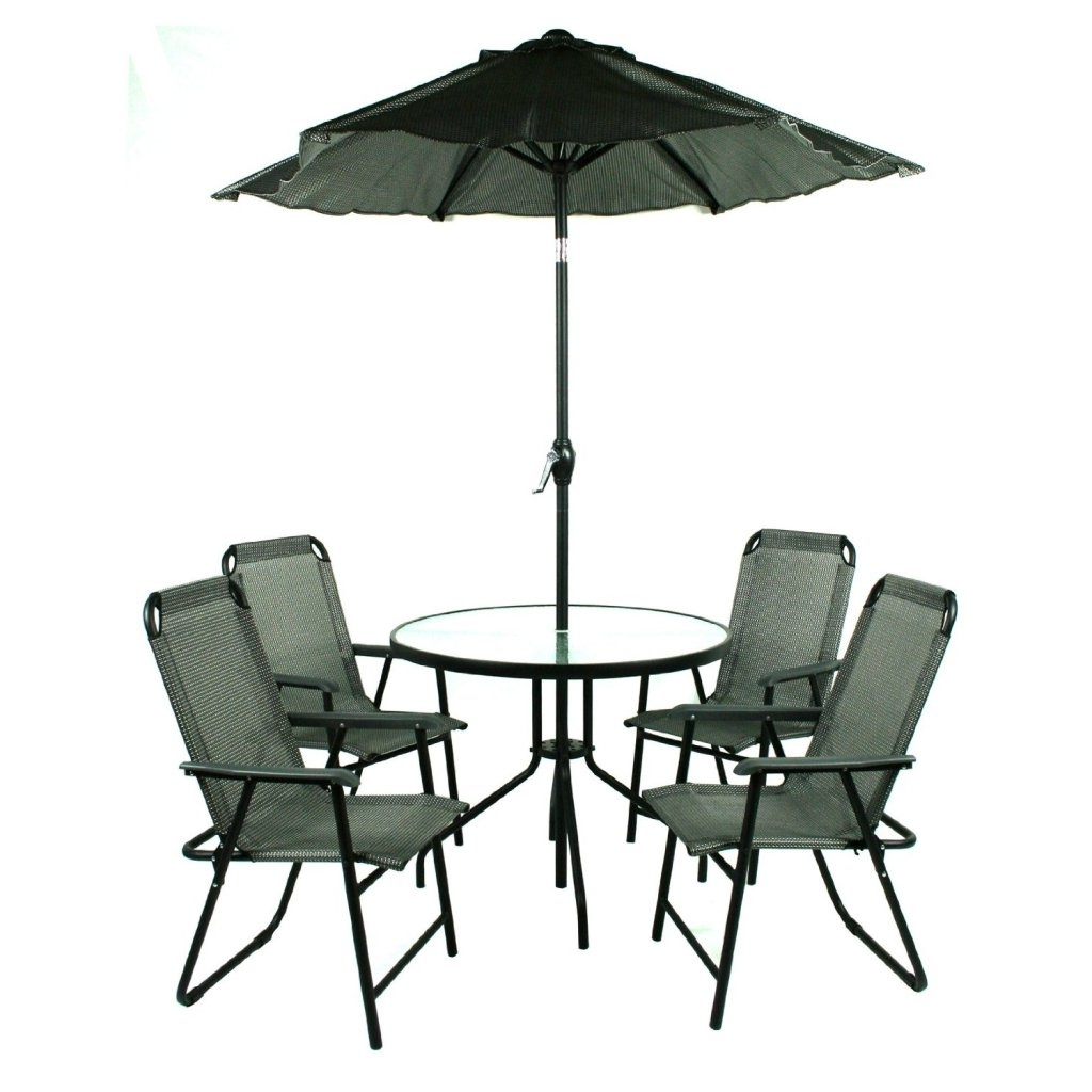 Brilliant Patio Furniture Sets With Umbrella Patio Table And Chairs Throughout Current Patio Dining Sets With Umbrellas (View 3 of 20)