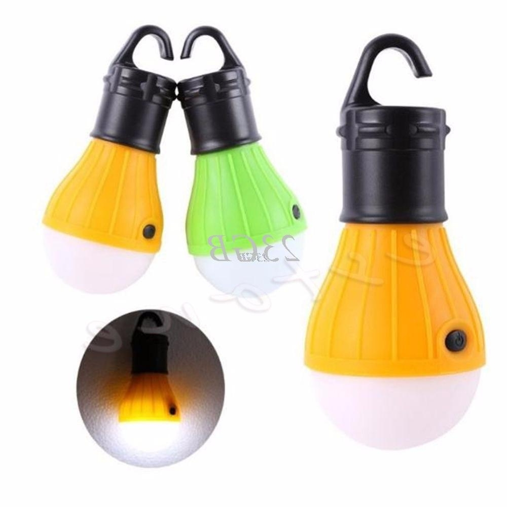 Camping Tent Light Fishing Lantern Lamp 3Led Portable Hanging Hook Inside Most Recent Outdoor Plastic Lanterns (View 16 of 20)