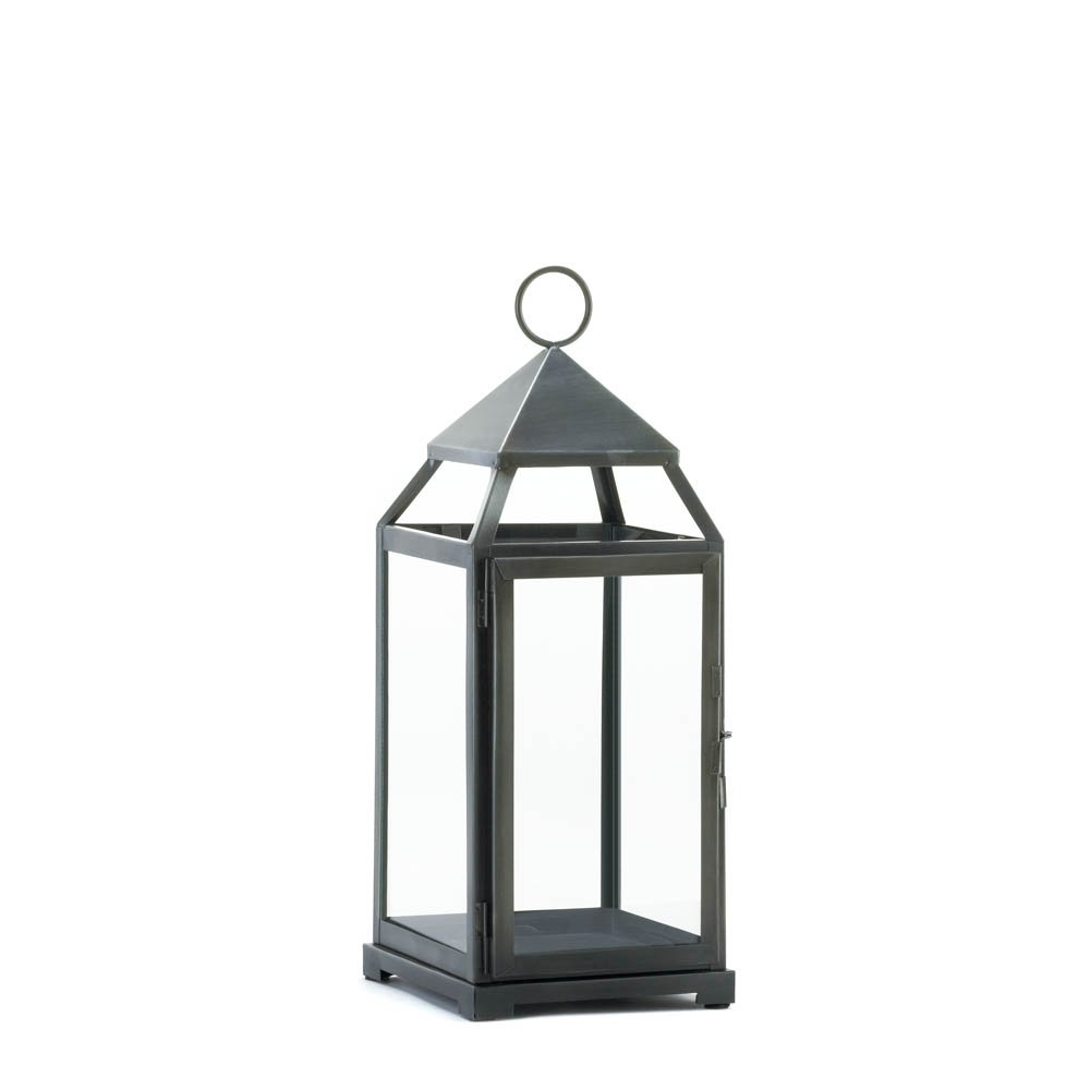 Candle Lanterns Decorative, Rustic Metal Outdoor Lanterns For With Trendy Outdoor Glass Lanterns (View 2 of 20)