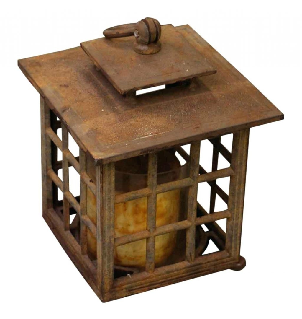Candles ~ Large Hanging Candle Lantern Antique Cast Iron Hr Good Inside Trendy Outdoor Cast Iron Lanterns (View 1 of 20)