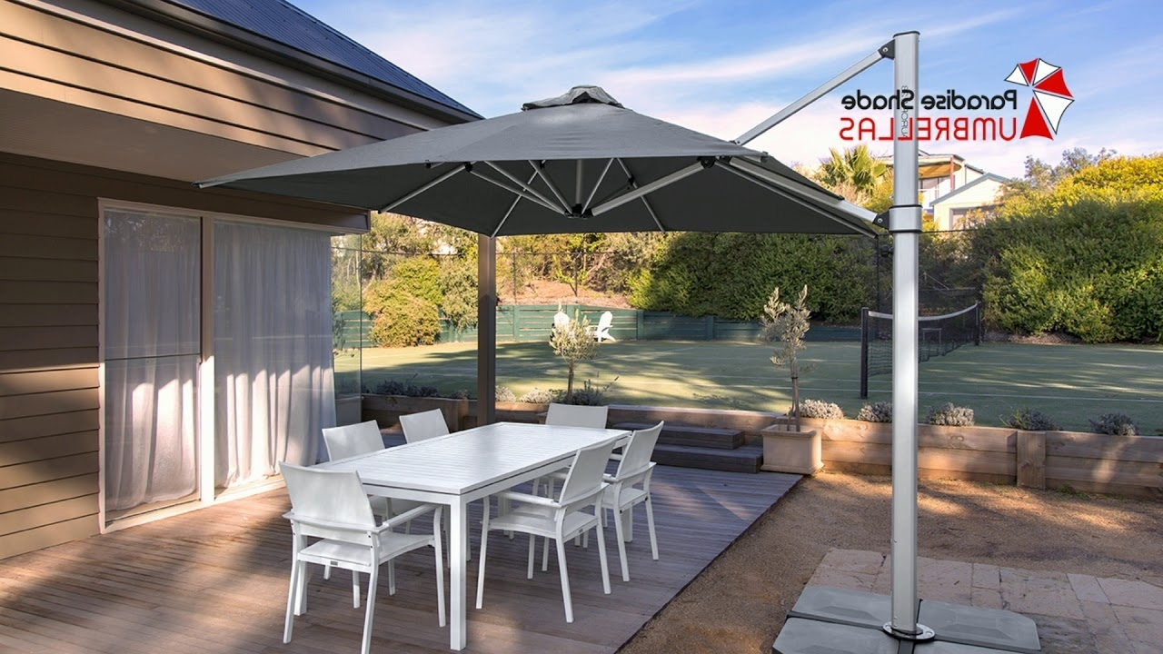 Cantilever Umbrellas Gold Coast – Large Umbrellas – Youtube Intended For Recent Gold Coast Patio Umbrellas (View 3 of 20)