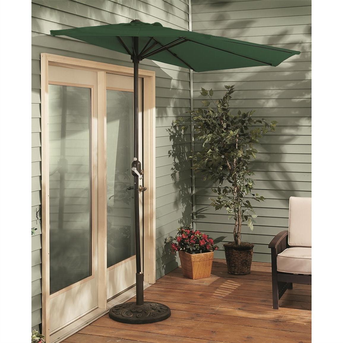 Castlecreek 8' Half Round Patio Umbrella – 235556, Patio Umbrellas With Latest Half Patio Umbrellas (View 5 of 20)