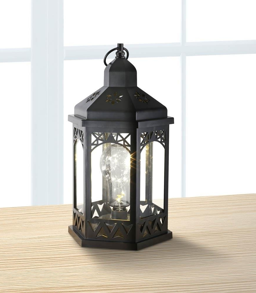 Cheap Outdoor Lanterns Throughout Favorite Lanterns Outdoor, Light Bulb Shimmer Hanging Metal Decorative (View 13 of 20)