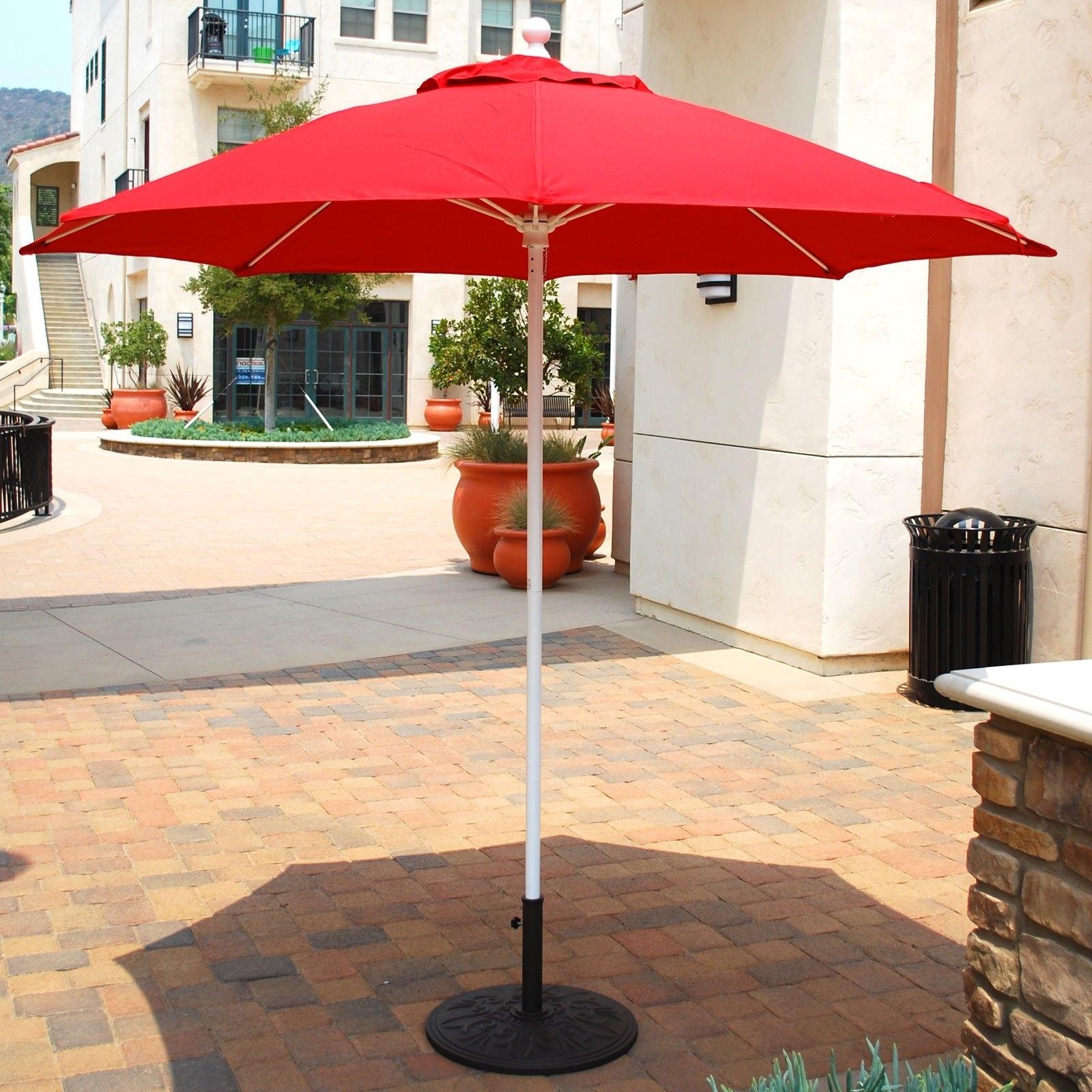 Cheap Patio Umbrellas Regarding Most Up To Date Furniture: Patio Umbrellas Home Depot Bathroom Light Christmas (View 8 of 20)