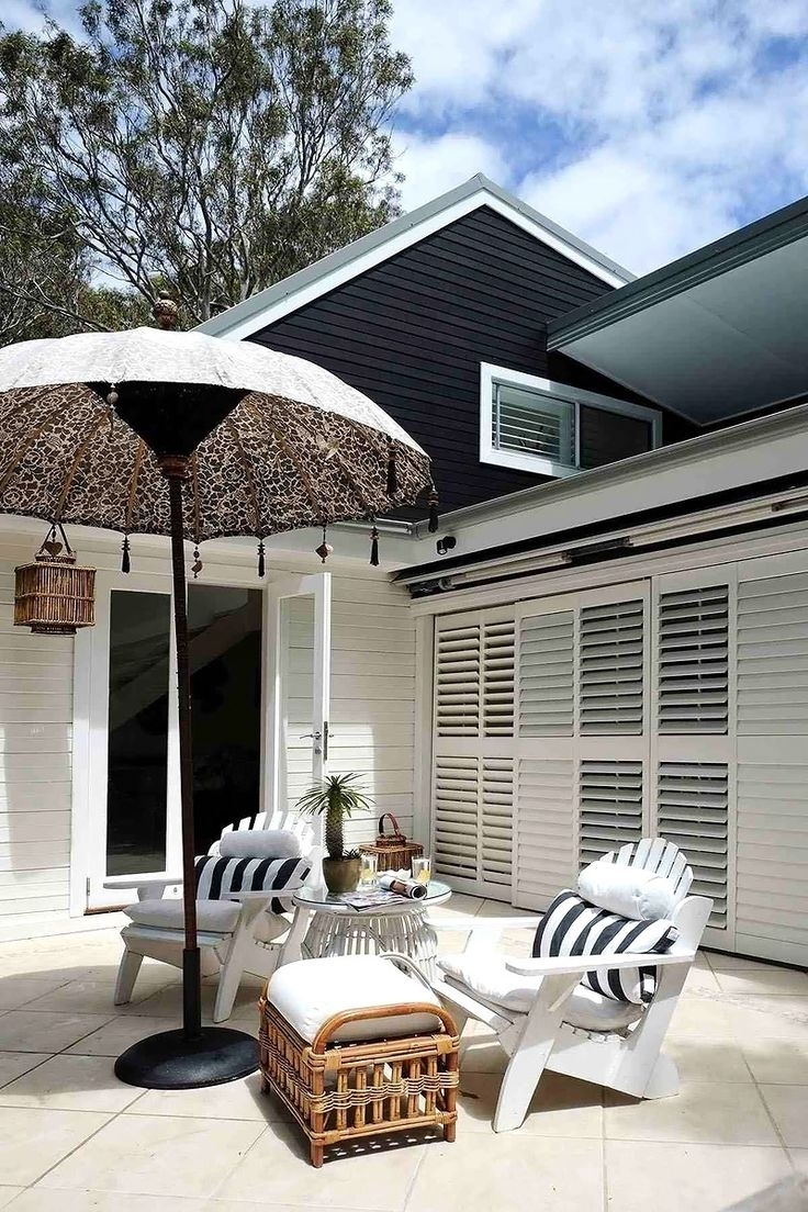 Coastal Style: Exotic Outdoor Umbrellas Pertaining To Trendy Exotic Patio Umbrellas (View 4 of 20)