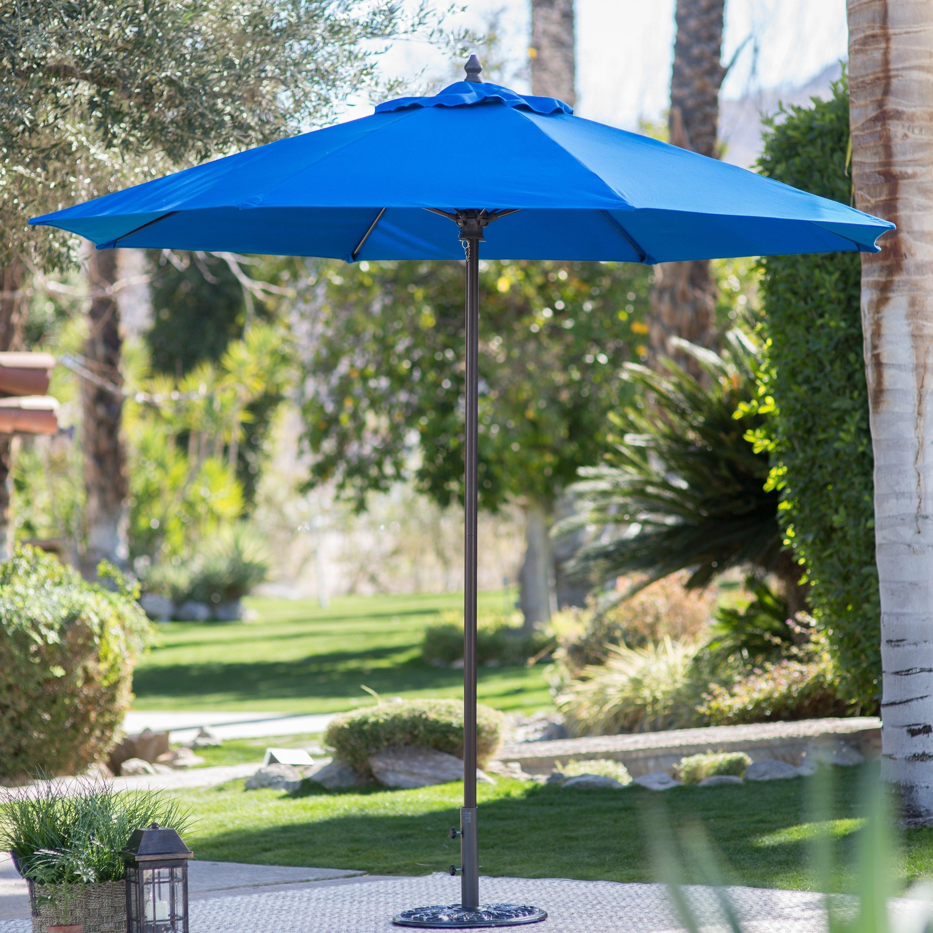 Commercial Patio Umbrellas Sunbrella Regarding Recent Coral Coast 9 Ft. Sunbrella Commercial Grade Aluminum Wind Resistant (Gallery 1 of 20)