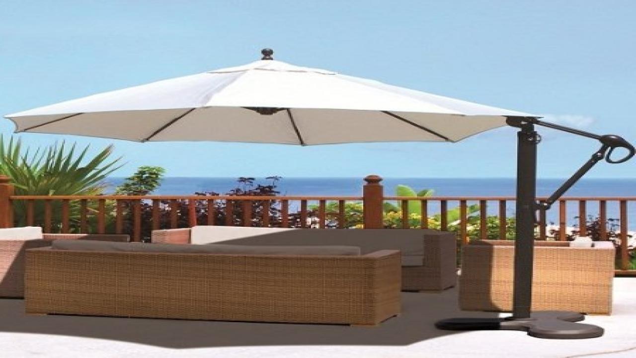 Commercial Patio Umbrellas Sunbrella Throughout Latest Rectangular Sunbrella Patio Umbrellas (Gallery 5 of 20)