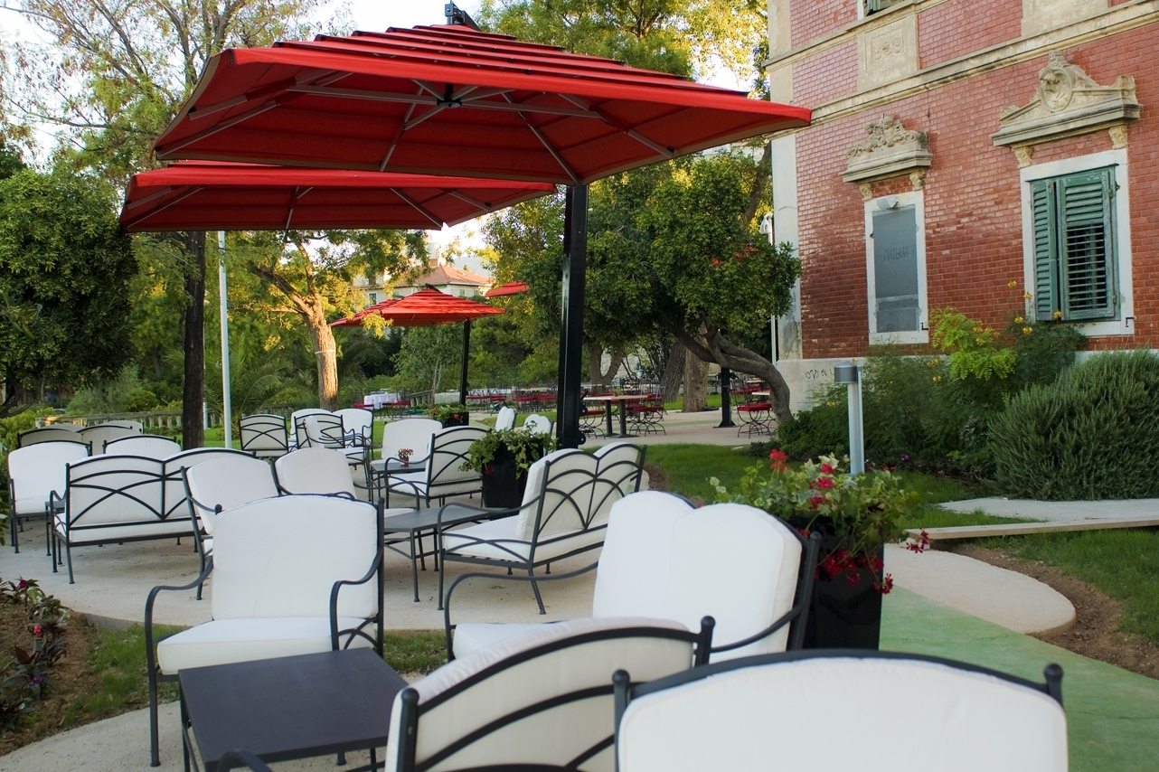 Commercial Patio Umbrellas With Regard To Most Recent Sightly Cushions Plus Outdoor Patio Furniture On A Budget (View 7 of 20)