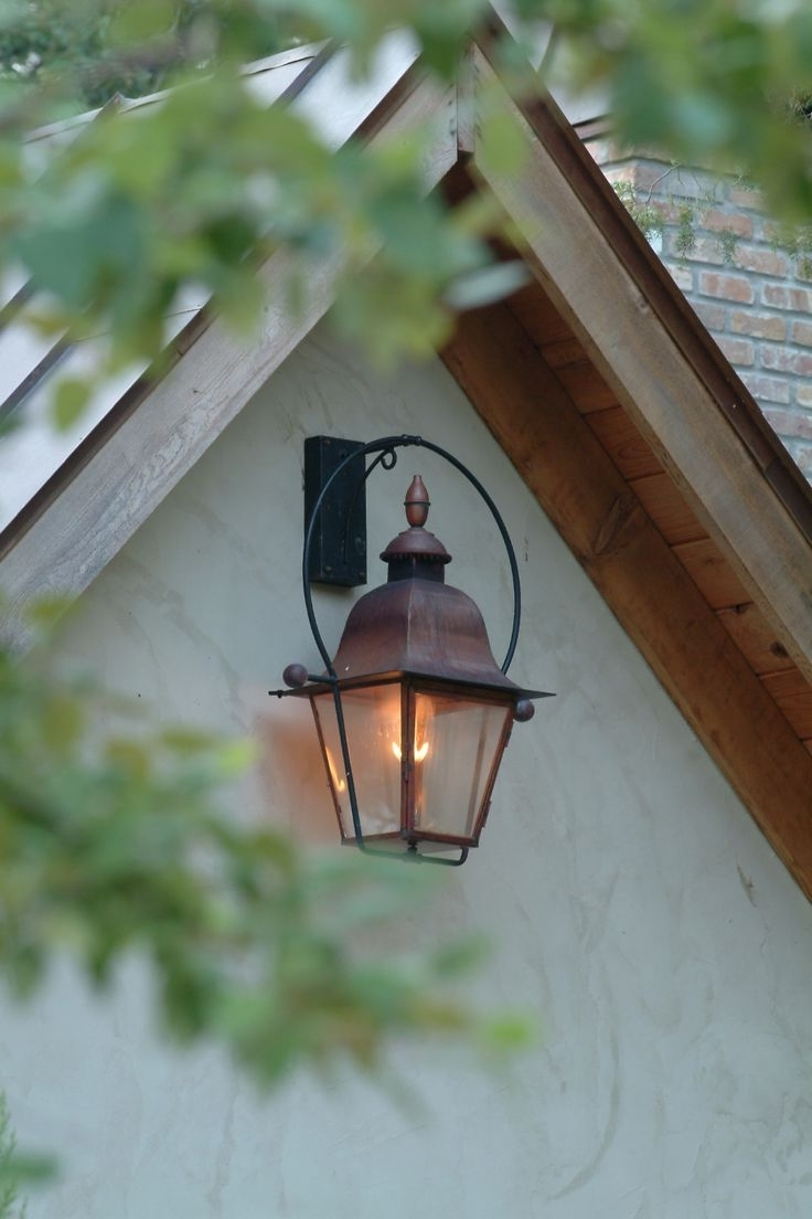 Copper Outdoor Electric Lanterns With Regard To Recent Portfolio Gfci 11 81 In H Black Outdoor Wall Light.wall Light (Gallery 19 of 20)