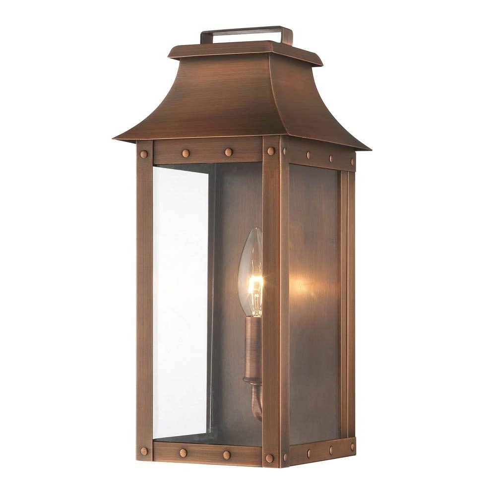 Copper Outdoor Lanterns Within 2018 Acclaim Lighting Manchester Collection 1 Light Copper Patina Outdoor (Gallery 4 of 20)