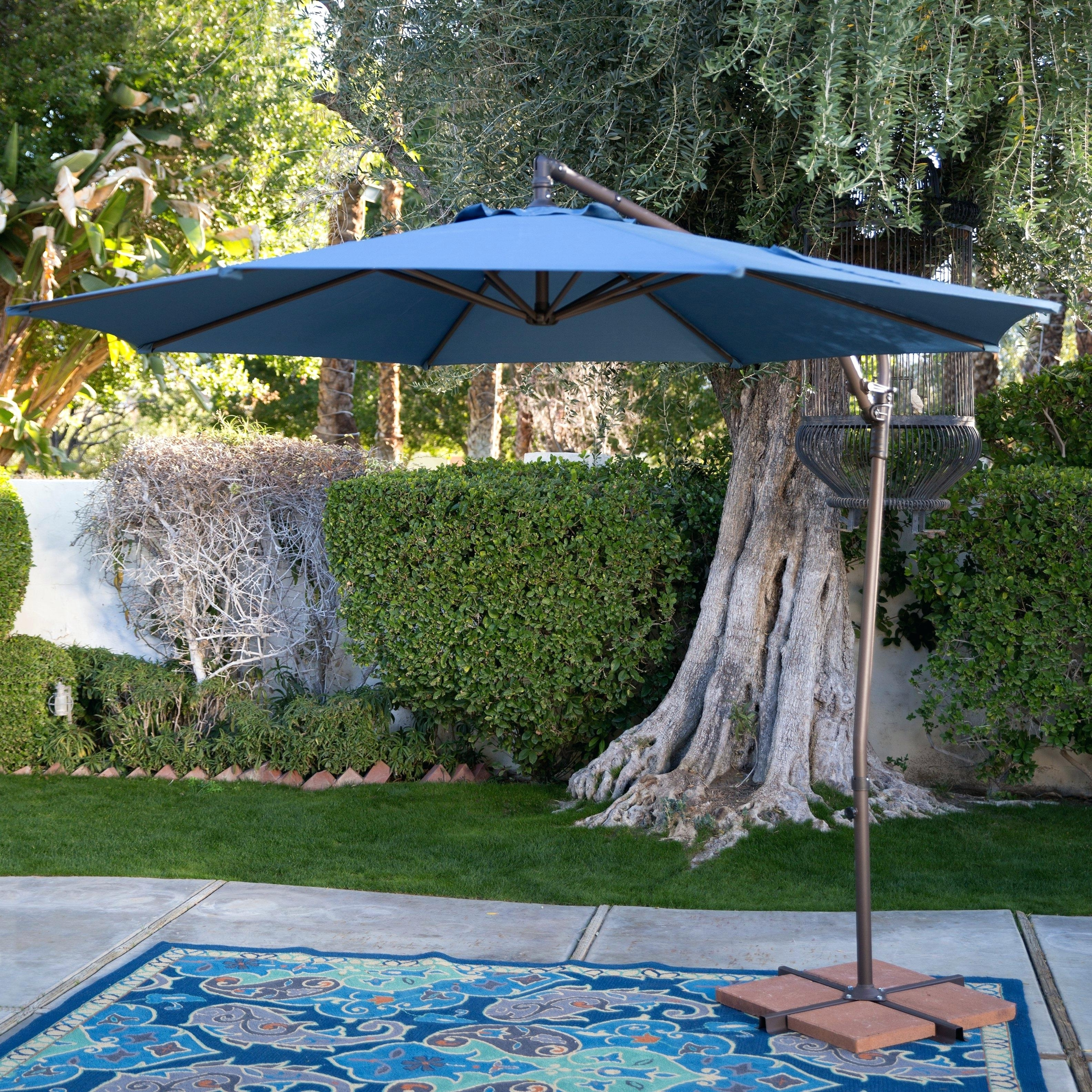 Coral Coast Offset Patio Umbrellas Inside Most Recent 9 Ft Patio Umbrella Coral Coast 9 Ft Steel Offset Patio Umbrella  (View 4 of 20)
