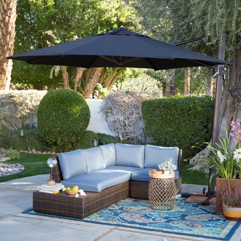 Coral Coast Offset Patio Umbrellas Intended For Fashionable Coral Coast 11 Ft (View 6 of 20)