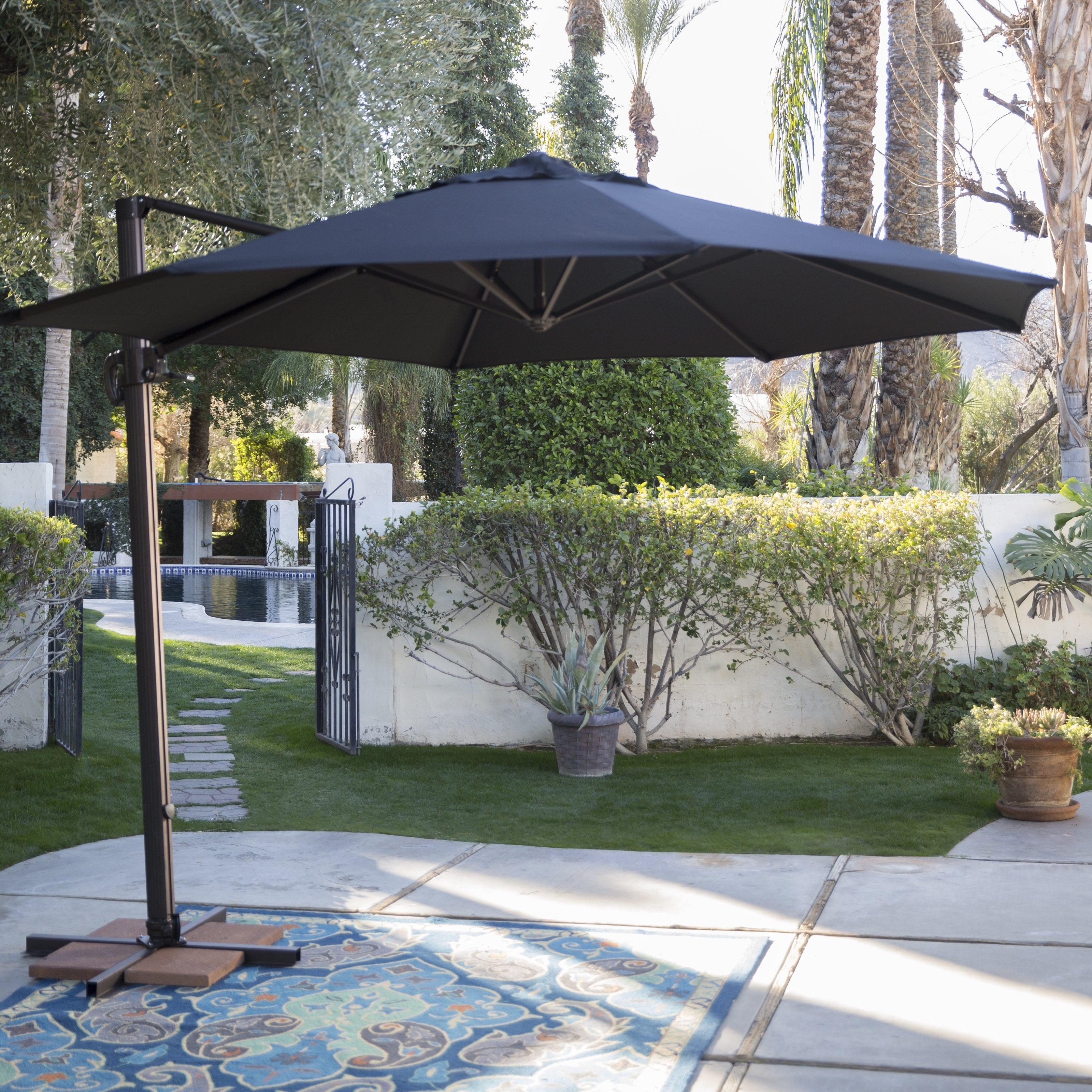 Coral Coast Offset Patio Umbrellas Intended For Widely Used Coral Coast 11 Ft (View 7 of 20)