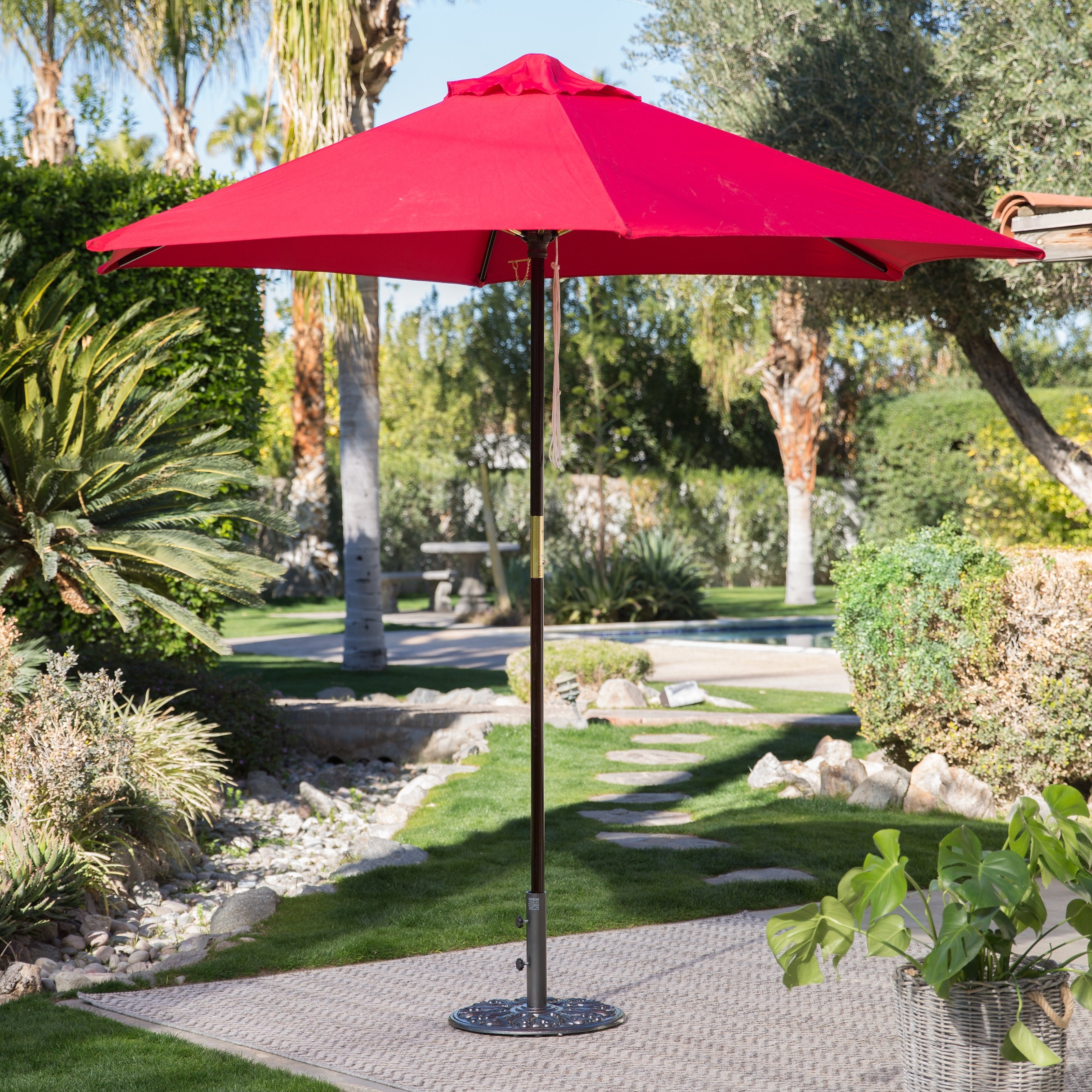 Coral Coast Offset Patio Umbrellas Within Best And Newest Coral Coast 11 Ft (View 11 of 20)