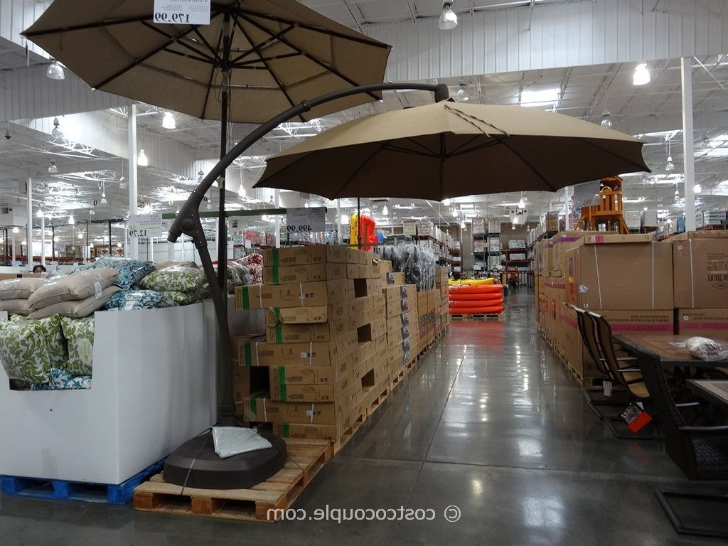 Costco Patio Umbrellas Pertaining To Famous 11 Foot Parisol Cantilever Umbrella Costco (Gallery 1 of 20)