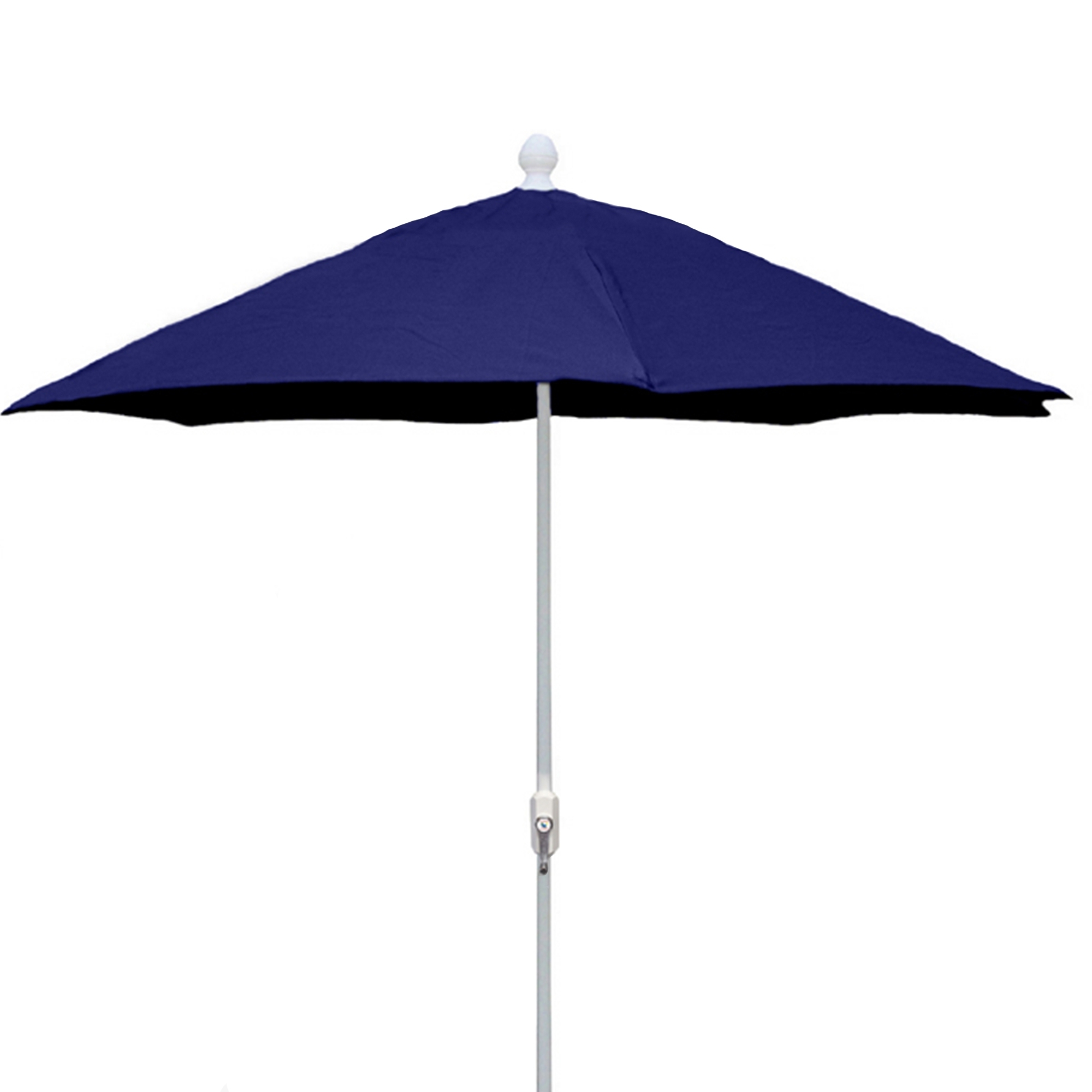 Current 7.5 Ft Crank Lift Market Style Patio Umbrella With White Pole (Gallery 14 of 20)