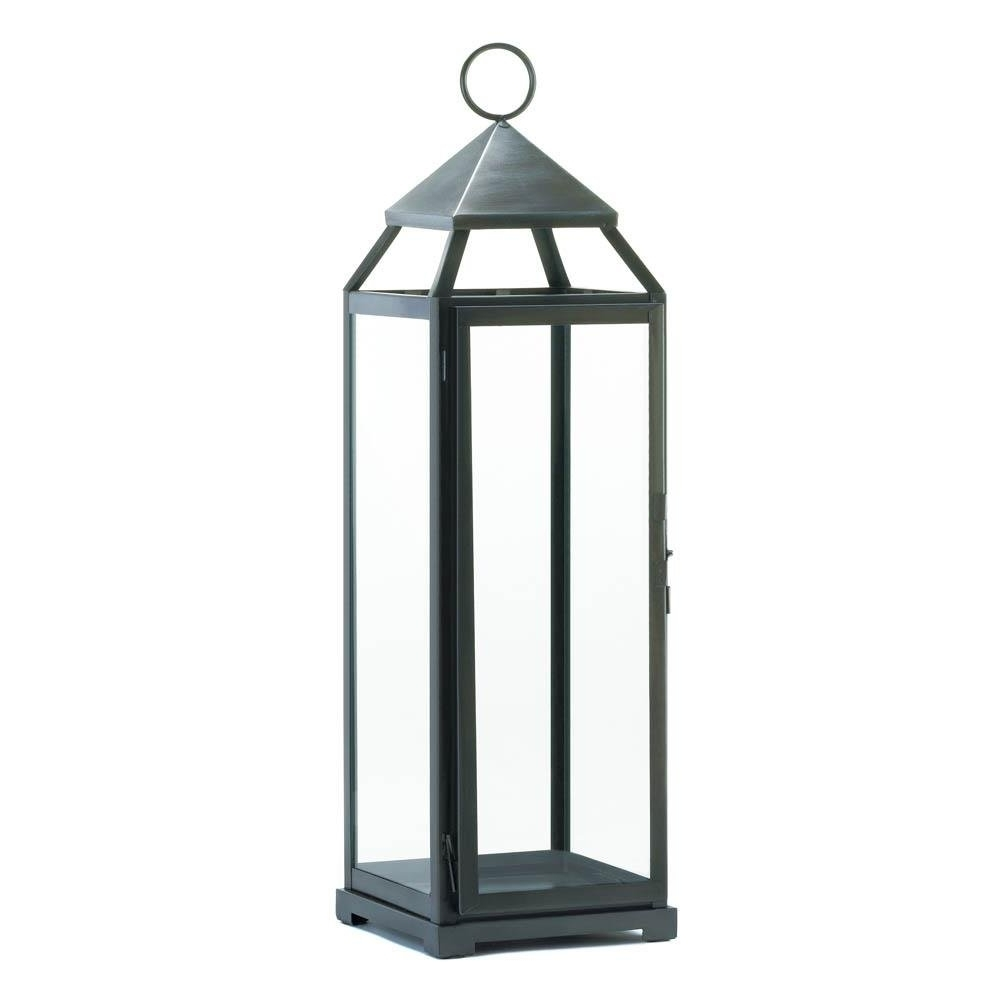 Current Backyard Lanterns, Silver Extra Tall Metal Decorative Floor Patio Pertaining To Silver Outdoor Lanterns (View 12 of 20)