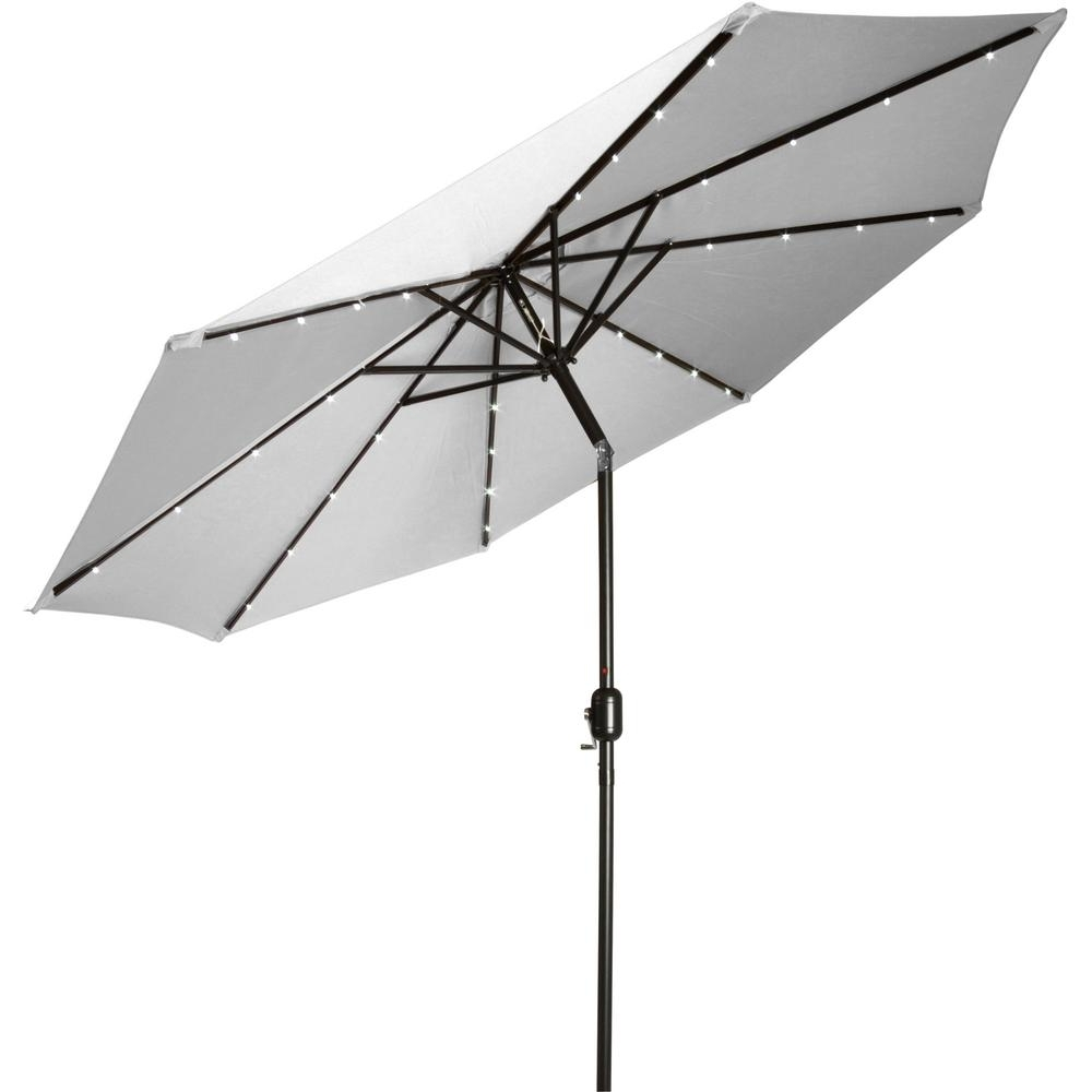 Current Deluxe Patio Umbrellas With Trademark Innovations 9 Ft. Deluxe Solar Powered Led Lighted Patio (Gallery 2 of 20)