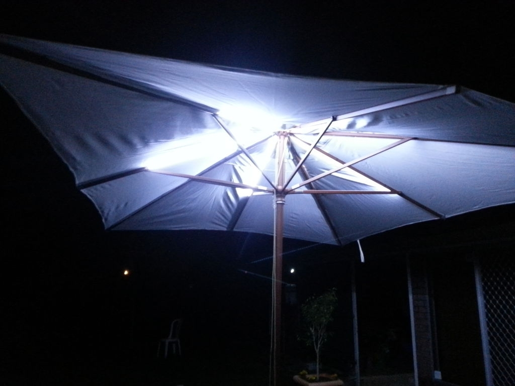 Current Led Outdoor Umbrella Lighting: 4 Steps (With Pictures) Inside Patio Umbrellas With Led Lights (Gallery 13 of 20)