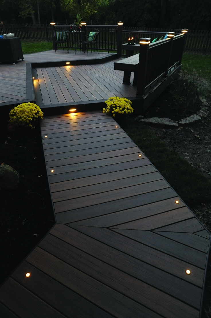 Current Light The Night For You And Your Guests With Timbertech Decking And Pertaining To Outdoor Deck Lanterns (View 3 of 20)