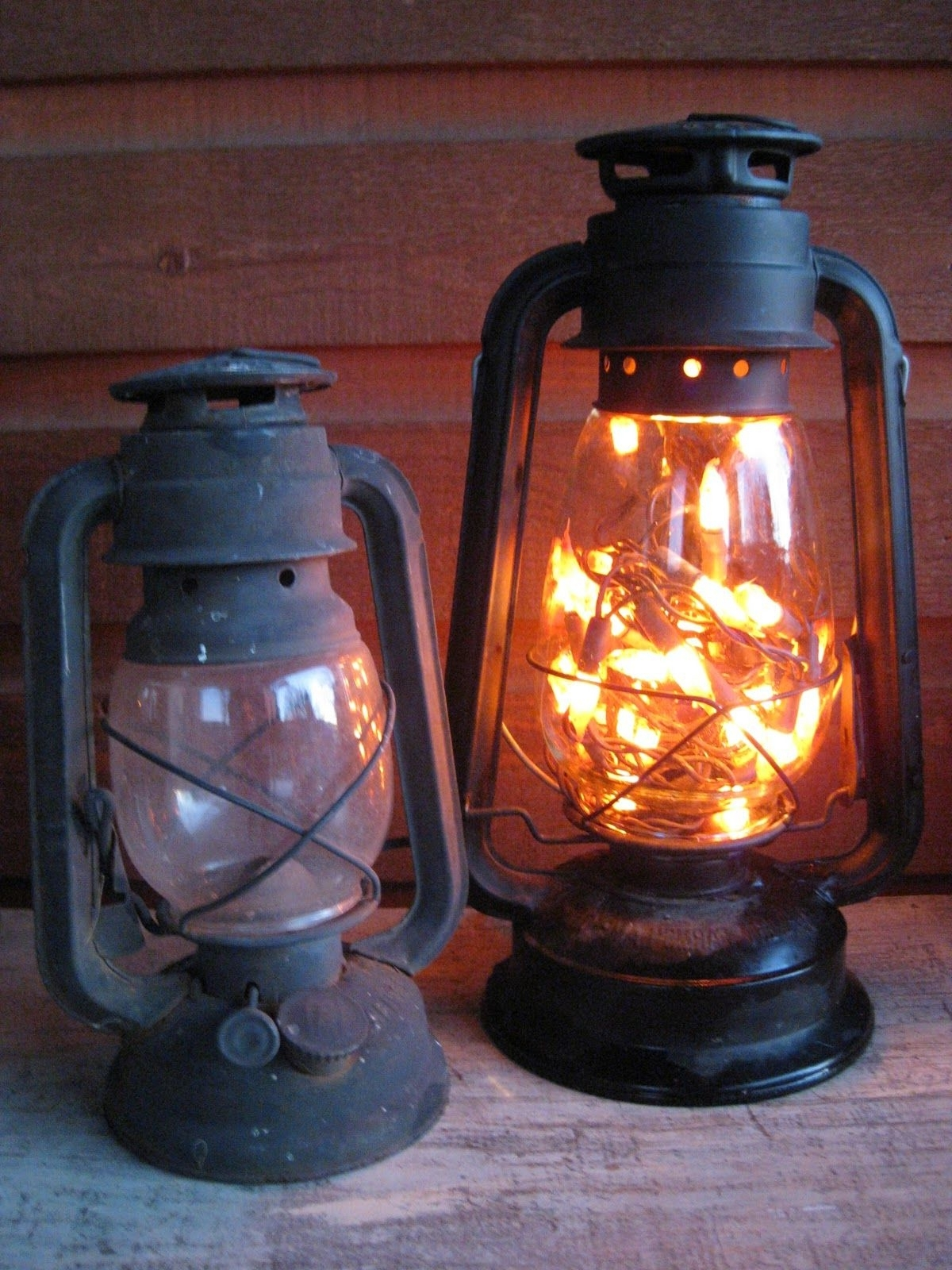 Current Old Lantern. Battery Opereated Lights Inside (View 3 of 20)