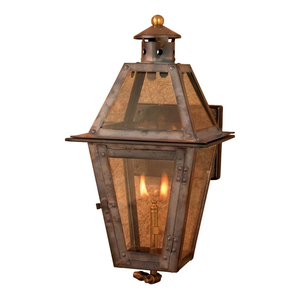 Current Outdoor Gas Lanterns Pertaining To Titan Lighting Maryville 36 In. Outdoor Washed Pewter Gas Wall (Gallery 4 of 20)