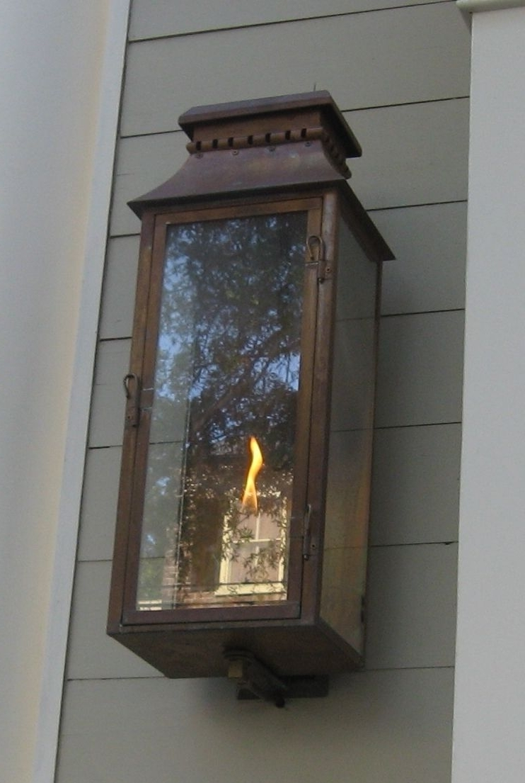 Current Outdoor Gas Lanterns Within The Old Village Lantern — Gas Or Electric (View 8 of 20)