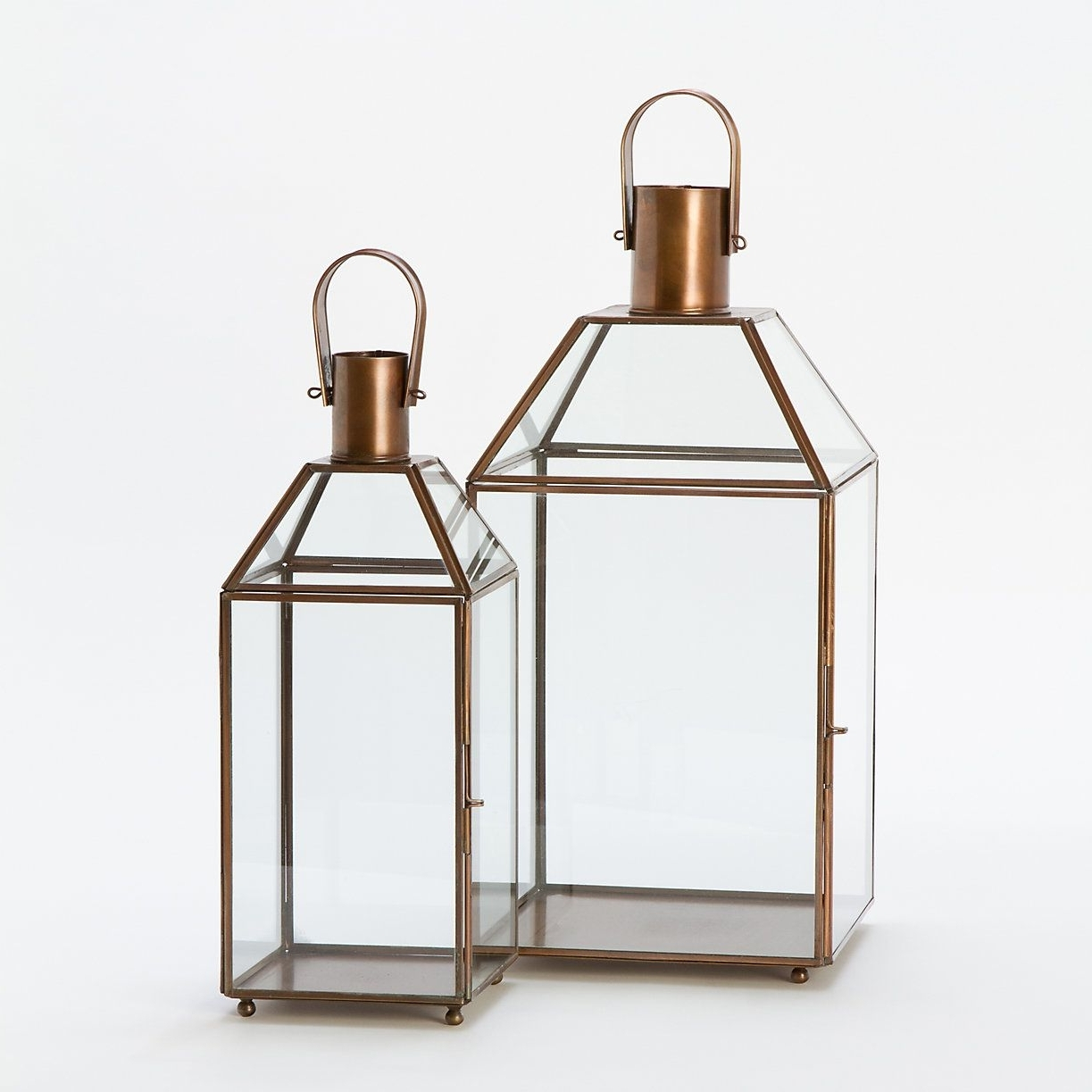 Current Outdoor Glass Lanterns With Copper & Glass Lanterns (View 3 of 20)