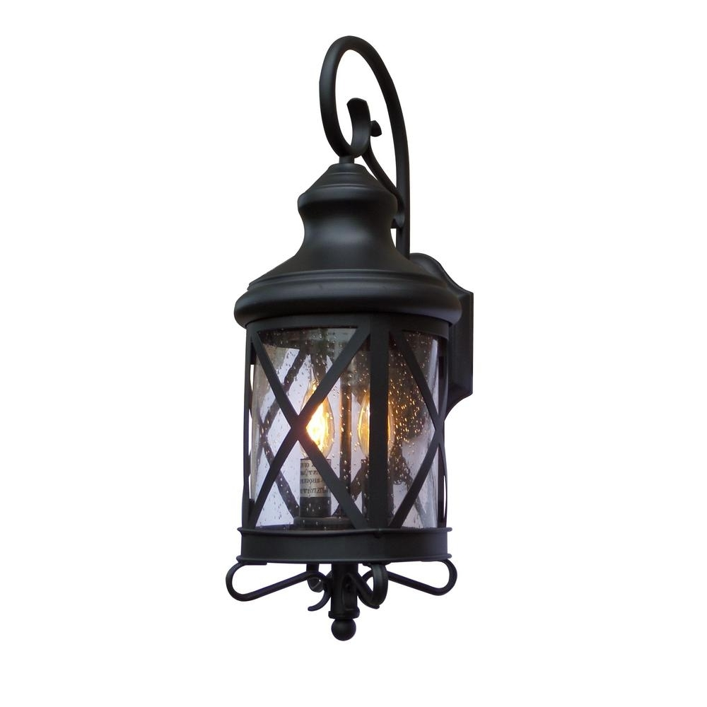 Current Outdoor Lanterns Decors In Y Decor Taysom 2 Light Black Outdoor Wall Mount Lantern El543Bl S (Gallery 11 of 20)