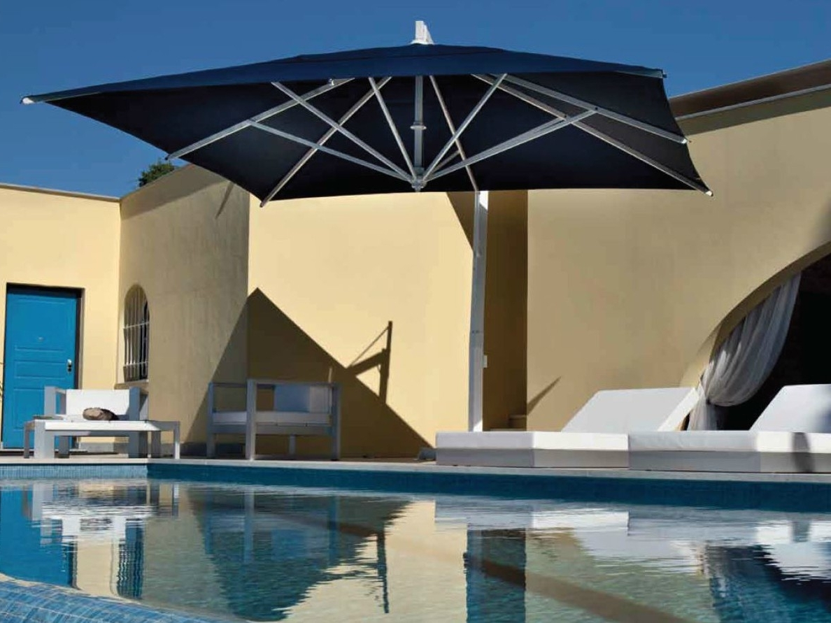 Current Square Cantilever Patio Umbrellas Pertaining To Fim P Series 11.5' Square Cantilever Patio Umbrella 11.5' X 11.5' (Gallery 17 of 20)
