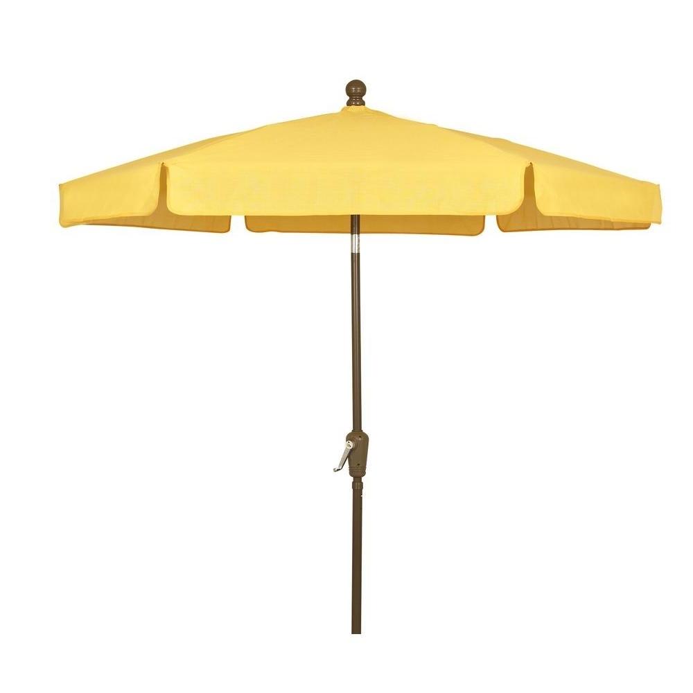 Current Yellow Sunbrella Patio Umbrellas Intended For Fiberbuilt Umbrellas 7.5 Ft (View 2 of 20)