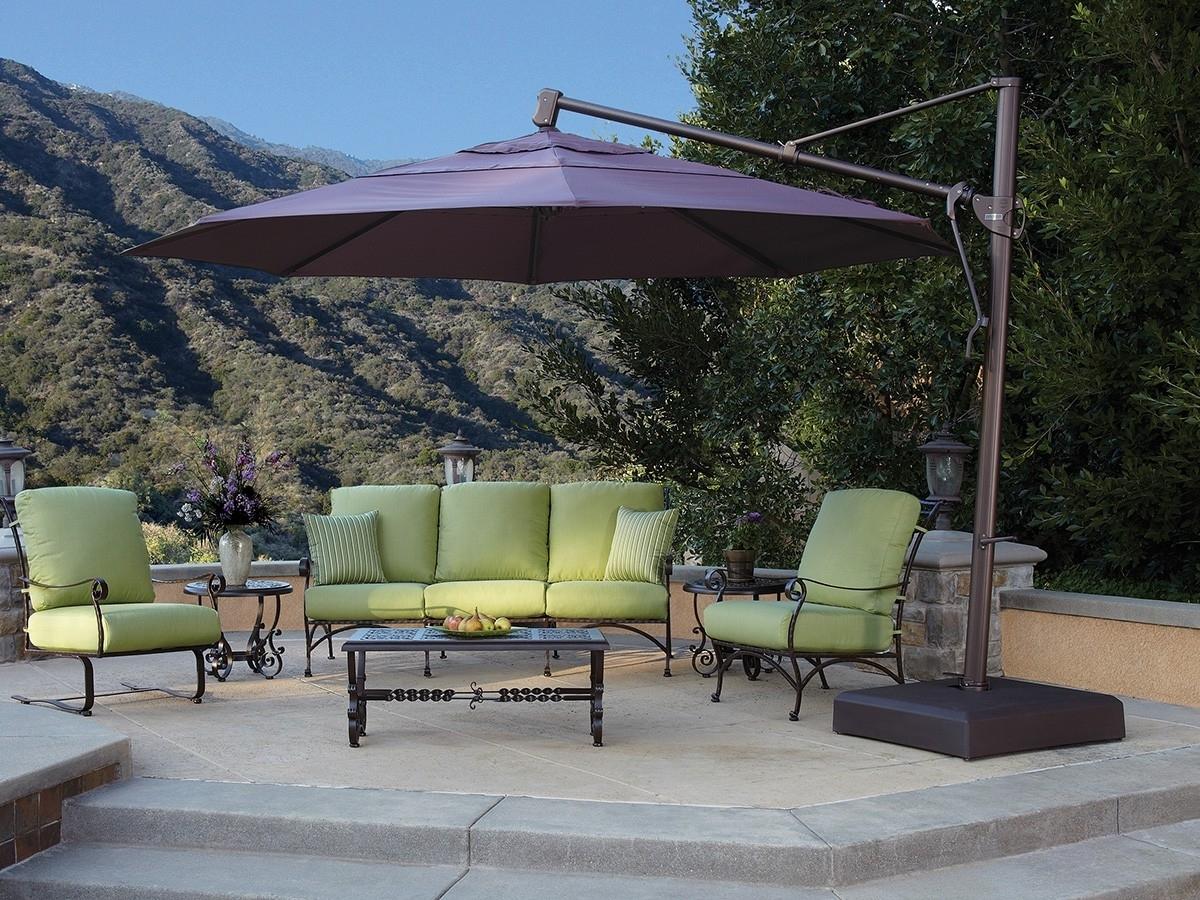 Custom Sunbrella Patio Umbrellas For Well Known Treasure Garden 13' Octagon Cantilever Umbrella (View 4 of 20)
