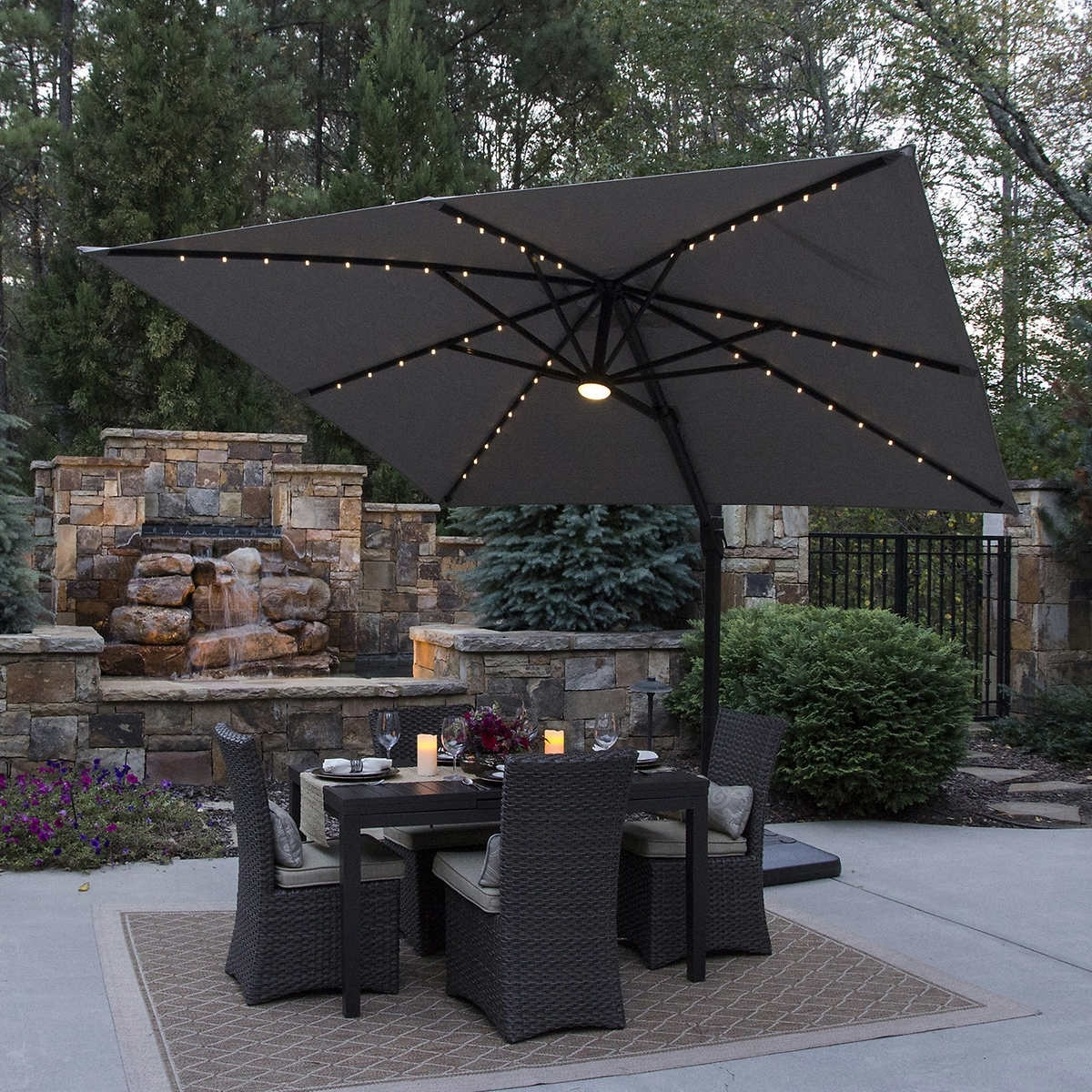Dark Costco Patio Umbrella : Acvap Homes – Cleaning Costco Patio Regarding Current Costco Cantilever Patio Umbrellas (View 6 of 20)