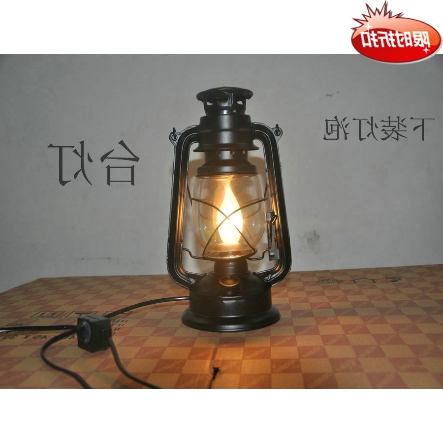 Decorative Outdoor Kerosene Lanterns Intended For Famous Vintage Nostalgic Lantern Classic Kerosene Lamp Decoration Table (View 4 of 20)