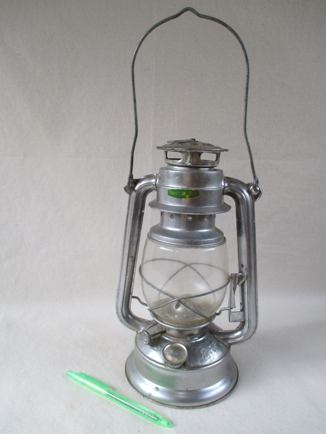 Decorative Outdoor Kerosene Lanterns Pertaining To Favorite Kerosene Lantern, Vintage Metal Silver, Unused, Elephant Brand, Made (View 5 of 20)