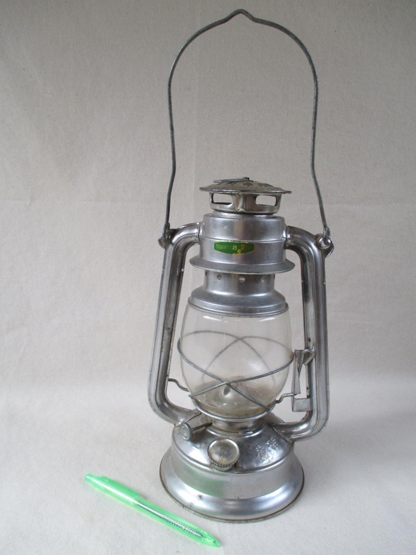 Decorative Outdoor Kerosene Lanterns Pertaining To Favorite Kerosene Lantern, Vintage Metal Silver, Unused, Elephant Brand, Made (View 8 of 20)