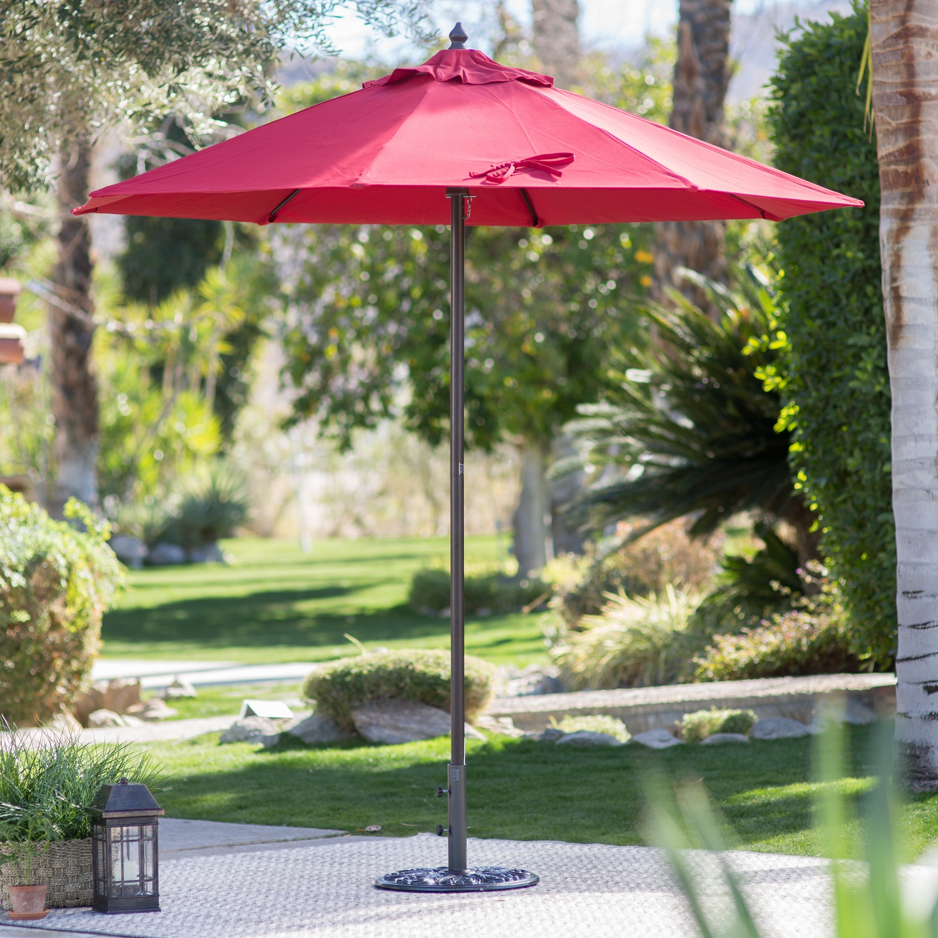 Deluxe Patio Umbrellas With Widely Used Coral Coast 9 Ft (View 16 of 20)