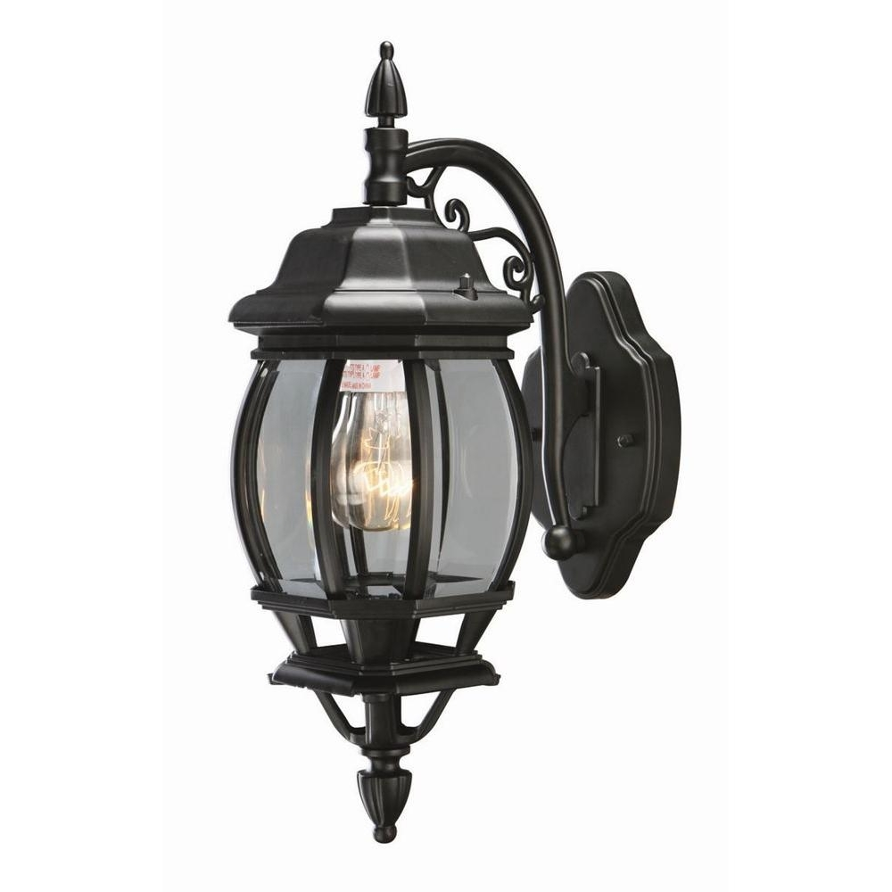 Design House Canterbury Black Outdoor Wall Mount Die Cast Downlight Inside Well Liked Indoor Outdoor Lanterns (View 11 of 20)