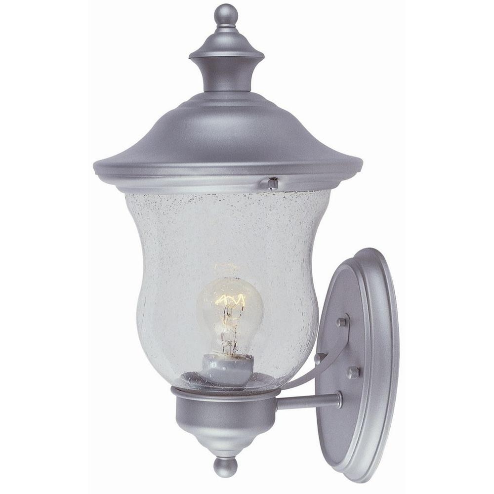 Design House Highland Heritage Silver Outdoor Wall Mount Uplight For Popular Silver Outdoor Lanterns (View 16 of 20)