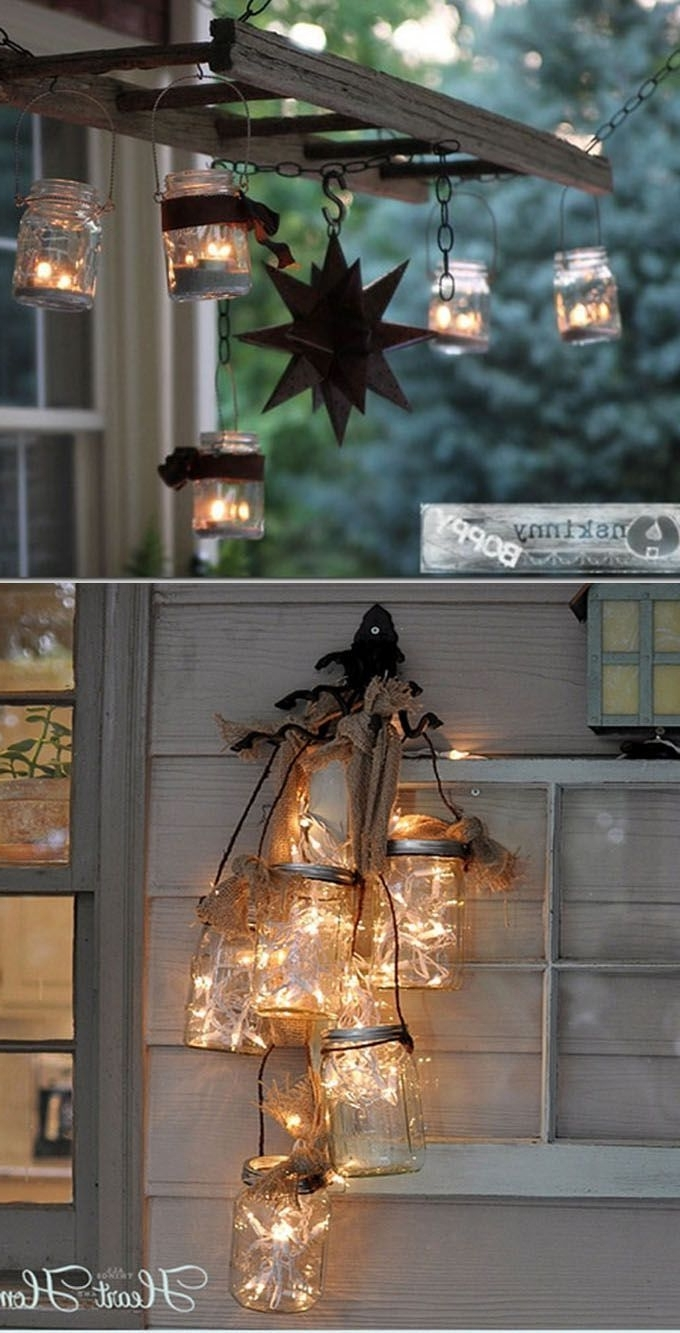 Diy Outdoor Lanterns In Well Liked Amazing Collection Of 28 Stunning Yet Easy Diy Outdoor Lights! Most (Gallery 13 of 20)