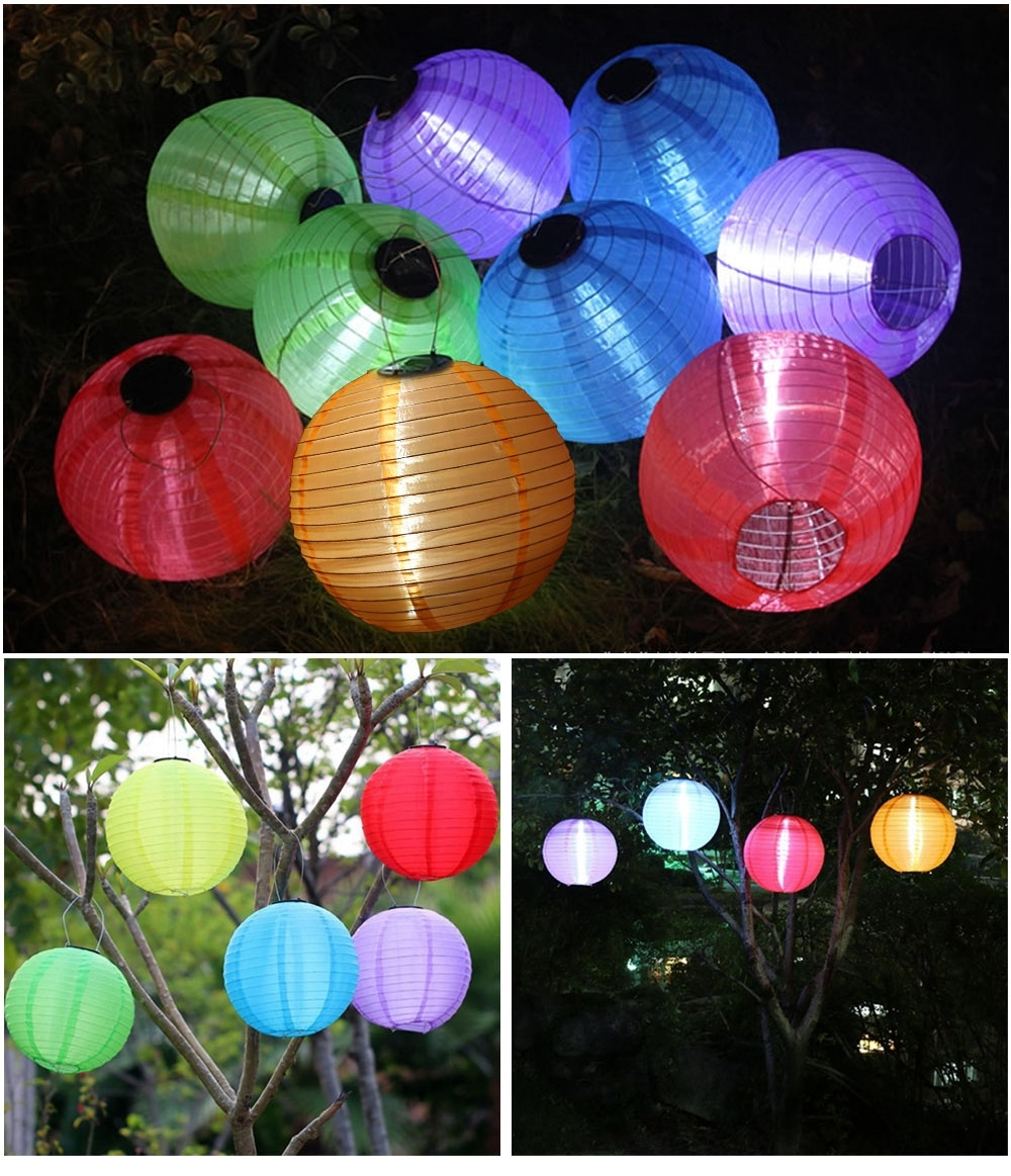 Dropshipping For Solar Powered Led Chinese Lantern Lamp To Sell Throughout Most Recent Outdoor Nylon Lanterns (View 7 of 20)