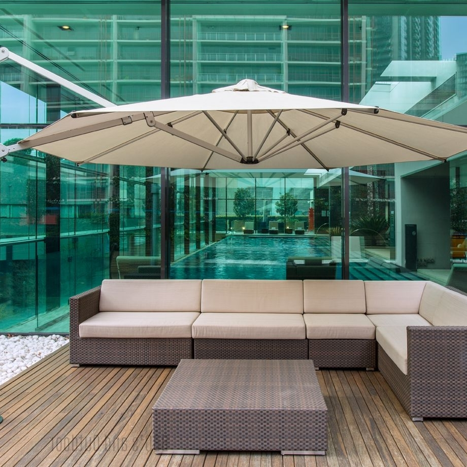 Eclipse Patio Umbrellas Throughout Most Current Eclipse 4M Octagonal Umbrella (Gallery 12 of 20)