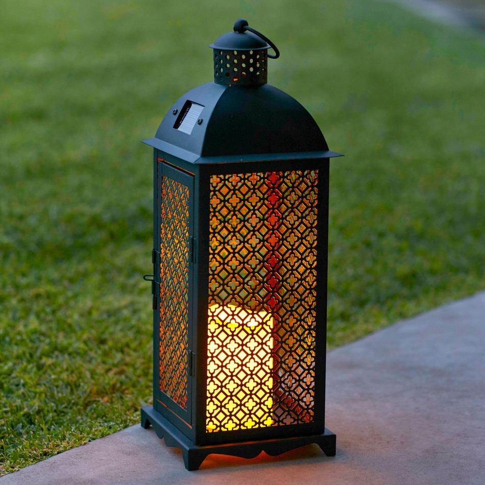Elegant Solar Outdoor Lanterns : Life On The Move – Solar Outdoor Inside Most Popular Outdoor Rattan Lanterns (Gallery 13 of 20)