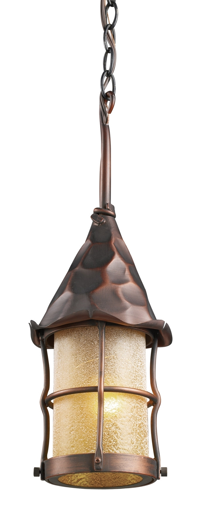 Elk Lighting 388 Ac Rustica Outdoor Hanging Lantern Within Current Large Outdoor Rustic Lanterns (View 18 of 20)